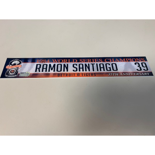Photo of Game-Used Locker Name Plate: Ramon Santiago