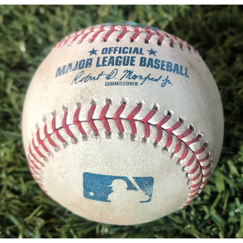 Photo of Game-Used Baseball - Mike Leake vs. Yadier Molina (Fly Out) & Matt Carpenter (Single) 9/24/19 vs. Cardinals
