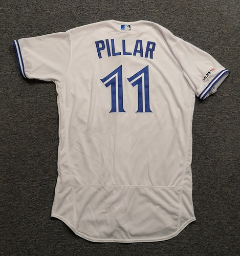 Photo of Authenticated Team Issued 2019 Jersey - #11 Kevin Pillar. Size 44.