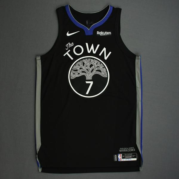 Image of Eric Paschall - Golden State Warriors - Christmas Day' 19 - Game-Worn City Edition Jersey