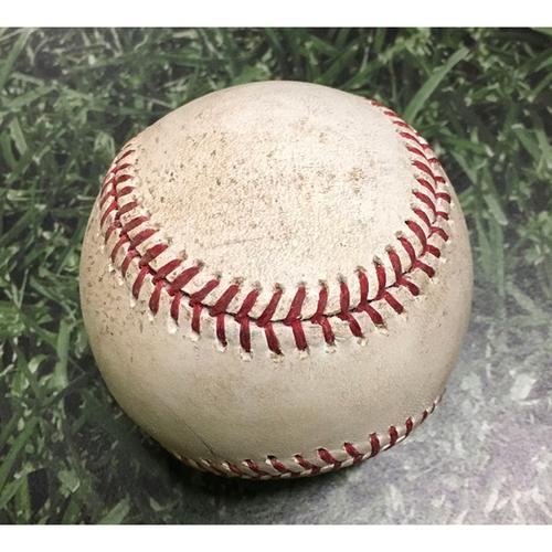 Photo of Game-Used Baseball MIN@MIL 06/24/11 - Scott Baker - Prince Fielder: Foul