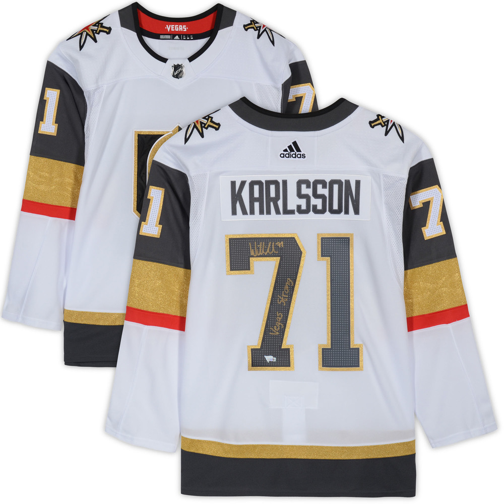 William Karlsson Vegas Golden Knights Autographed White Adidas Authentic Jersey with