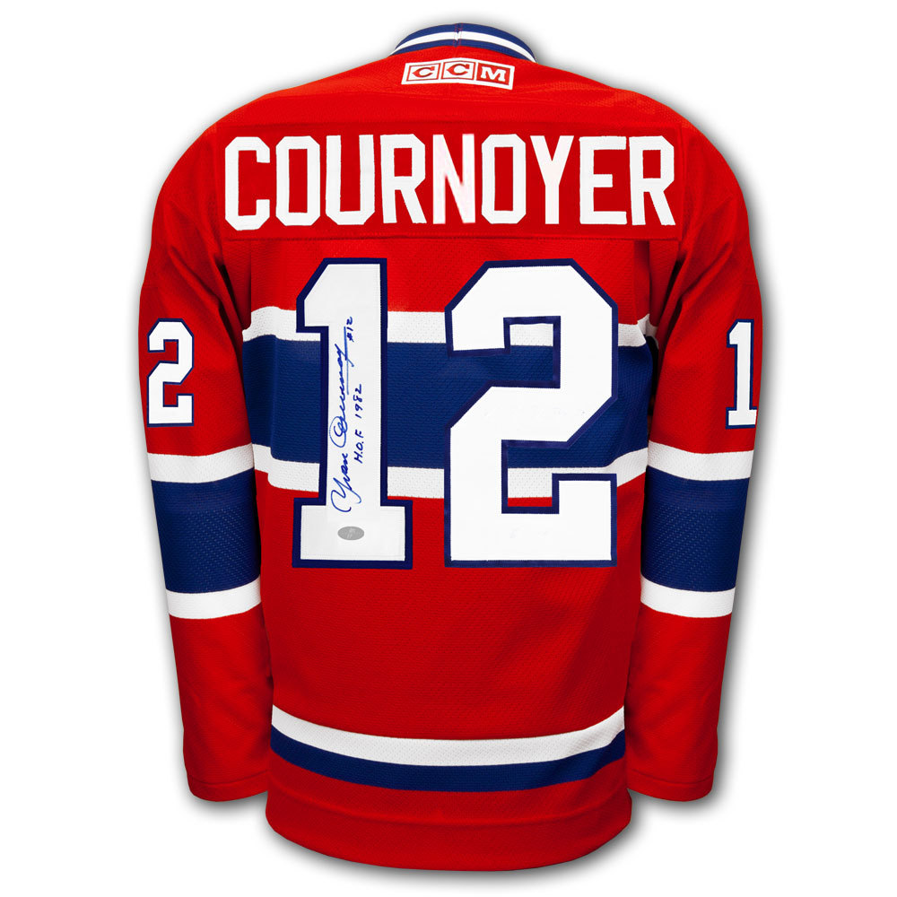5fa3261dd54 Yvan Cournoyer Montreal Canadiens CCM HOF Autographed Jersey - NHL ...
