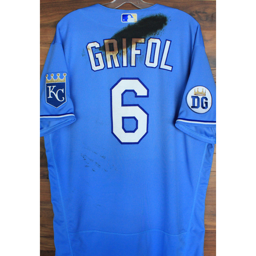 Photo of Alex's Lemonade Stand Foundation: Game-Used Pedro Grifol Jersey (Size 48 - 9/26/20 DET @ KC)