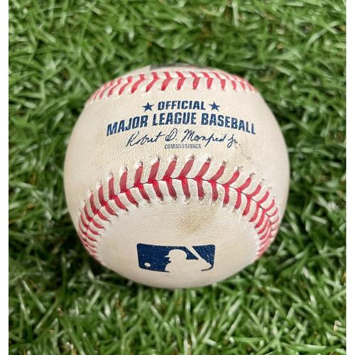 Photo of Game Used Baseball: Tyler Glasnow strikes out Carlos Santana - Top 6 - May 26, 2021 v KC