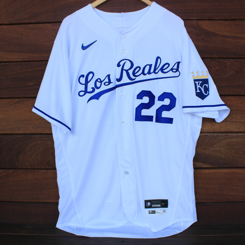 Photo of Game-Used Los Reales Jersey: Mike Matheny #22 (SEA@KC 9/17/21) - Size 48