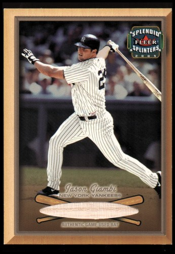 Photo of 2003 Fleer Splendid Splinters Bat Chips #16 Jason Giambi
