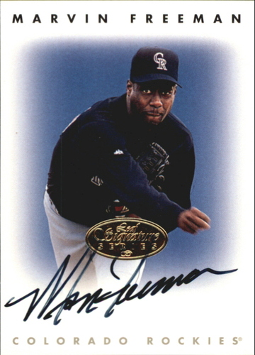 Photo of 1996 Leaf Signature Autographs Gold #73 Marvin Freeman
