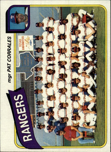 Photo of 1980 Topps #41 Texas Rangers CL/Pat Corrales MG