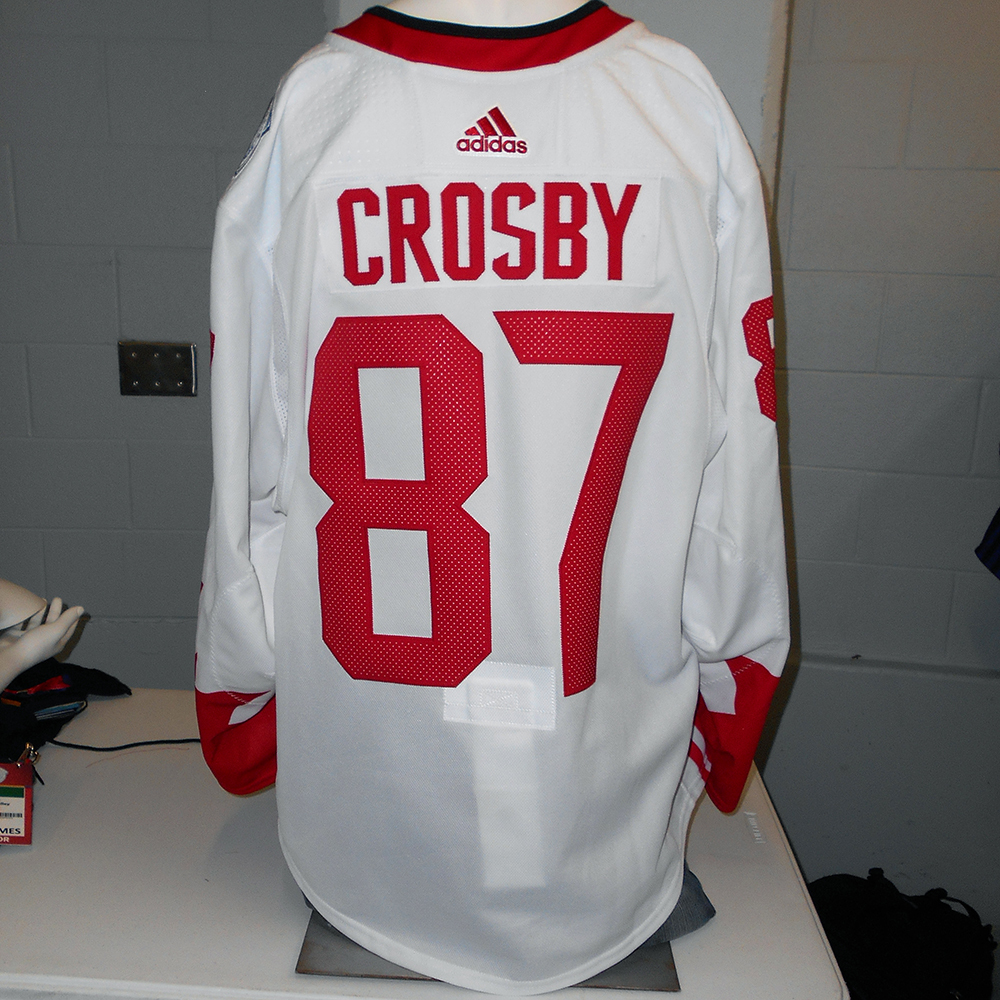 Sidney Crosby Pittsburgh Penguins Game-Used Away 2016 World Cup of Hockey  Team Canada Jersey cdf6d1bce62