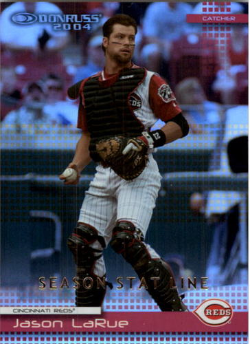 Photo of 2004 Donruss Stat Line Season #252 Jason LaRue/118