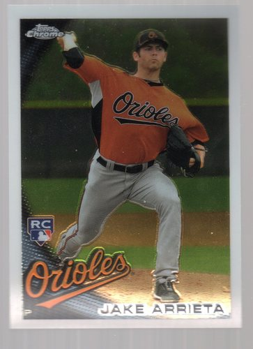 Photo of 2010 Topps Chrome #213 Jake Arrieta Rookie Card