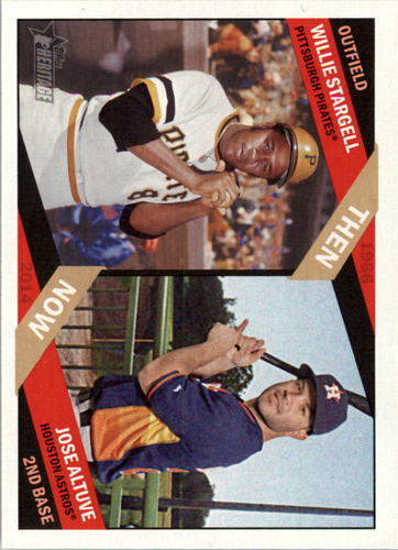 Photo of 2015 Topps Heritage Then and Now  Jose Altuve/Willie Stargell