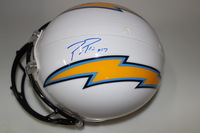 CHARGERS - PHILIP RIVERS SIGNED CHARGERS PROLINE HELMET