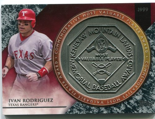Photo of 2017 Topps Update MVP Award Relics #MVPRIR Ivan Rodriguez