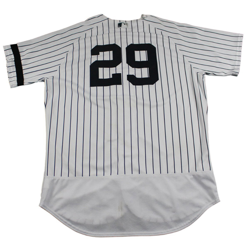 Photo of Todd Frazier New York Yankees Game-Used #29 Pinstripe Jersey (10/1/2017) (Size 48)