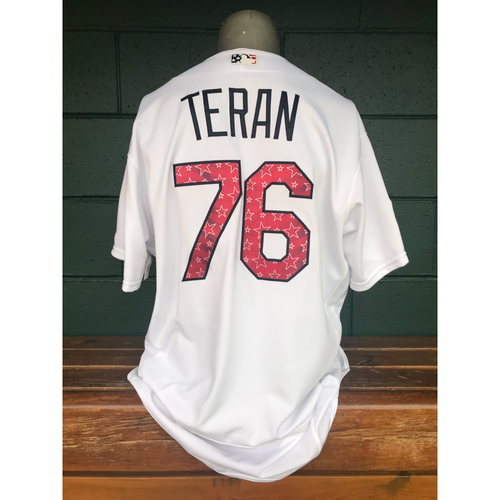 Photo of Cardinals Authentics: Kleininger Teran Game Worn Stars and Stripes Jersey