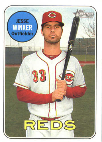 Photo of 2018 Topps Heritage #210 Jesse Winker