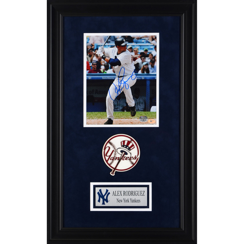 "Photo of Alex Rodriguez New York Yankees Deluxe Framed Autographed 8"" x 10"" Photo"