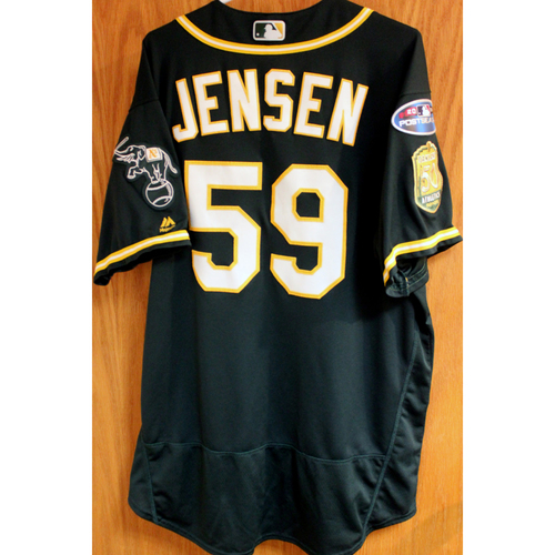 Photo of Game-Used Jersey: Marcus Jensen AL Wild Card Game 10/3/18