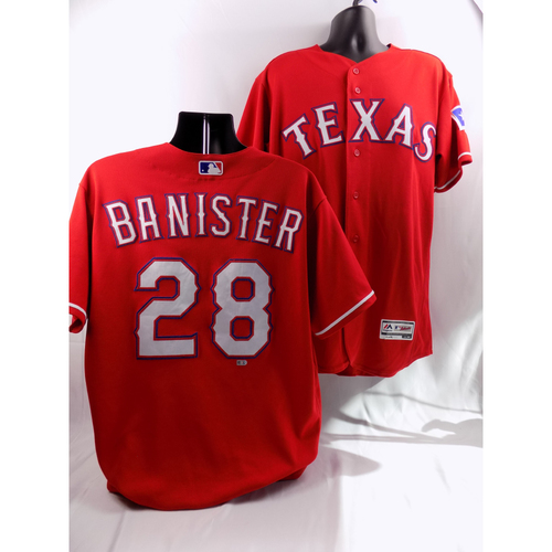 Photo of 8/7/18 - Game-Used Red Jersey - Jeff Banister