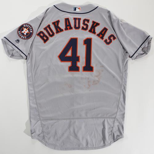 Photo of 2018 Arizona Fall League Game-Used Jersey - J.B. Bukauskas -Size 48