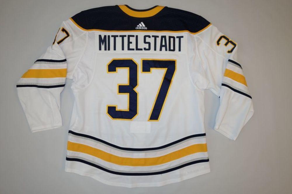 Casey Mittelstadt 2018-19 Buffalo Sabres Set 1 Away Jersey