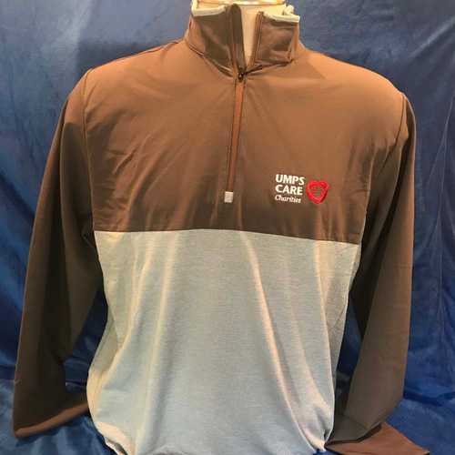 Photo of UMPS CARE AUCTION: UMPS CARE Antigua Regime Pullover, Taupe/Malt, Size XL
