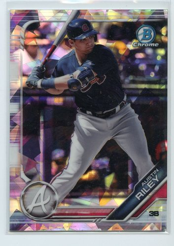 Photo of 2019 Bowman Chrome Prospects Atomic Refractors #BCP129 Austin Riley