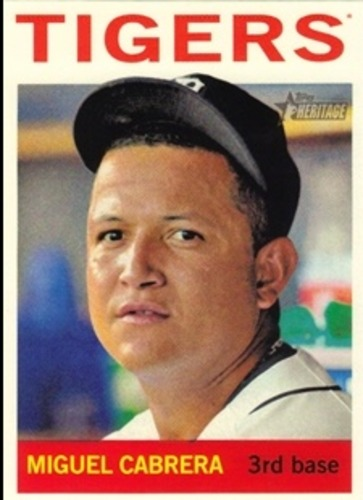 Photo of 2013 Topps Heritage #426A Miguel Cabrera SP