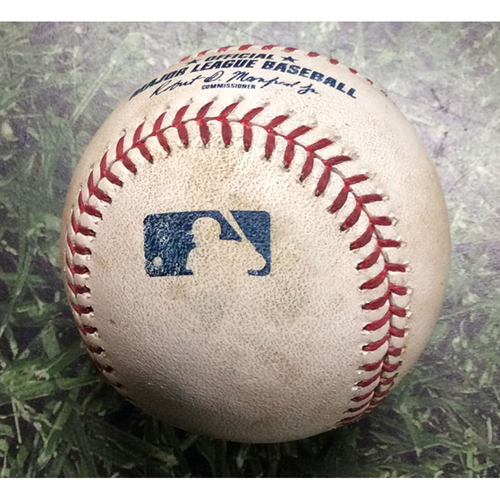 Photo of Game-Used Baseball WSH@MIL 05/06/19 - Jhoulys Chacin - Adam Eaton: Single