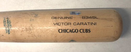 Photo of 12 Days of Auctions: Day 6 -- Victor Caratini Game-Used Cracked Bat -- Raisel Iglesias to Victor Caratini, Ground Out, Top 9 -- 8/9/19