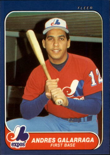 Photo of 1986 Fleer Update #44 Andres Galarraga