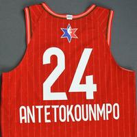 Giannis Antetokounmpo - 2020 NBA All-Star - Game-Worn Jersey Charity Auction - Team Giannis - 1st and 2nd Quarter - Double-Double