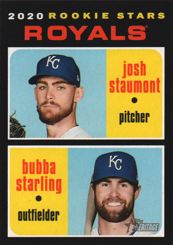 Photo of 2020 Topps Heritage #247 Bubba Starling RC/Josh Staumont RC