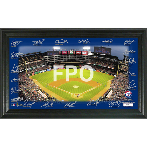 Photo of Texas Rangers 2020 Signature Field Limited Edition Frame