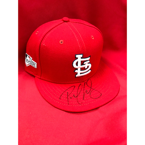 Photo of Paul Goldschmidt Autographed Team Issued 2019 Postseason Home Cap (Size 7 3/8)