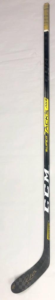 #25 Brandon Carlo Game Used Stick - Autographed - Boston Bruins