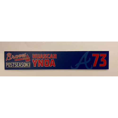 Photo of Huascar Ynoa Team Issued 2020 Postseason Nameplate