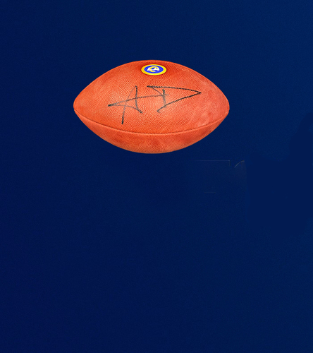 """Photo of Aaron Donald Signed Authentic """"The Duke"""" Football"""