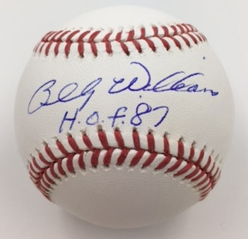 "Photo of Billy Williams ""HOF 1987"" Autographed Baseball"