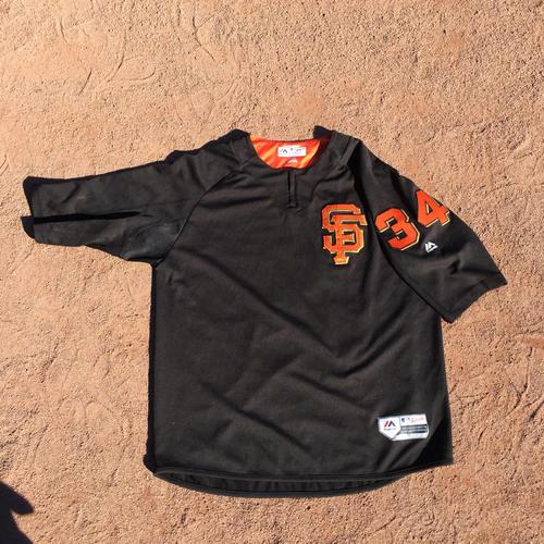 San Francisco Giants - 2017 Team-Issued Batting Practice Jersey Worn by #34 Chris Stratton (Size: XL)