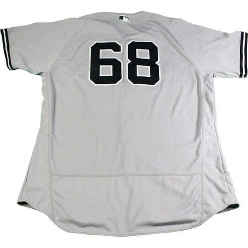 Photo of Dellin Betances New York Yankees 2017 Opening Day Game-Used #68 Road Jersey (4/2/2017) (Size 52)