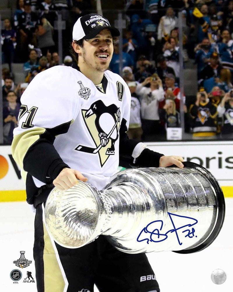 Evgeni Malkin Signed 8x10 Unframed Penguins 2016 Stanley Cup