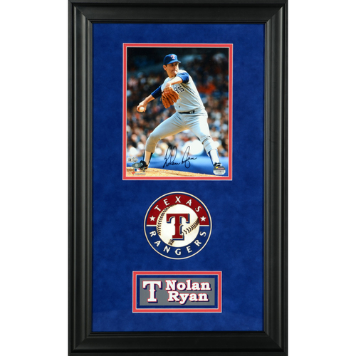 "Photo of Nolan Ryan Texas Rangers Deluxe Framed Autographed 8"" x 10"" Photo"