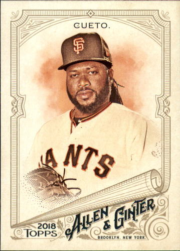 Photo of 2018 Topps Allen and Ginter #166 Johnny Cueto