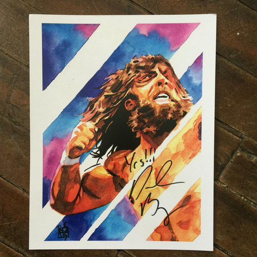 Photo of Daniel Bryan SIGNED 11 x 14 Rob Schamberger Print
