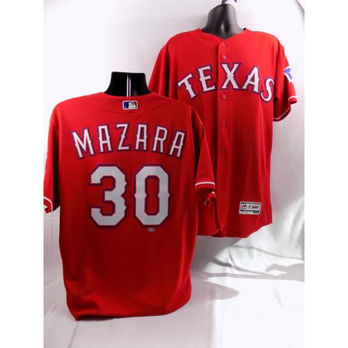 Photo of 9/19/18 - Game-Used Red Jersey - Nomar Mazara