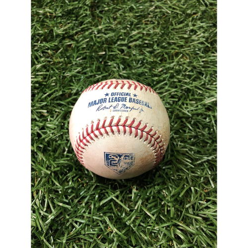 Photo of 20th Anniversary Game Used Baseball: Jose Abreu single and Daniel Palka ground out off Adam Kolarek - August 3, 2018 v CWS