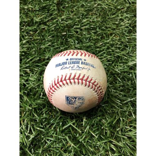 20th Anniversary Game Used Baseball: Jose Abreu single and Daniel Palka ground out off Adam Kolarek - August 3, 2018 v CWS